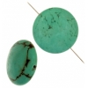 Turquoise Stablized Magnesite 25mm 8In Strand